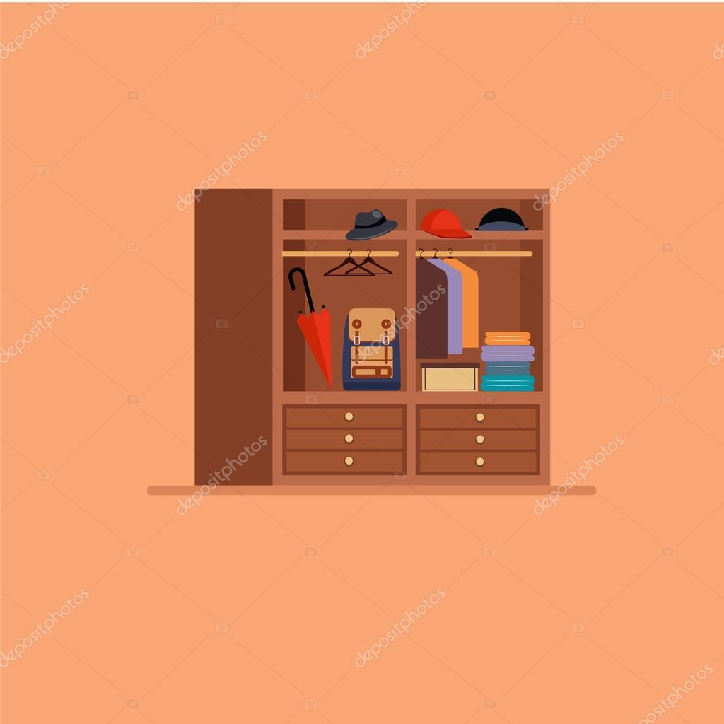 Pasillo con escaleras y muebles vector de stock for Stock de muebles