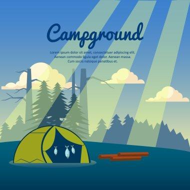 Summer camp poster.