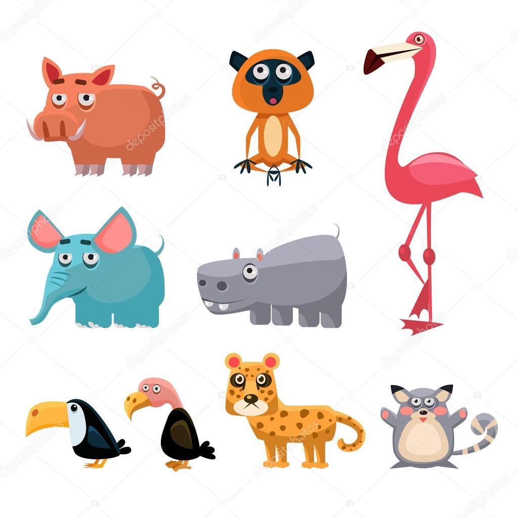Dessin anim amusant animaux d 39 afrique image vectorielle - Dessin manga animaux ...