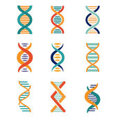DNA, genetika vektorové ikony