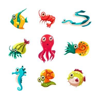 Many species of fish and marine animal