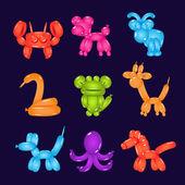 Zvířata z barevné balónky