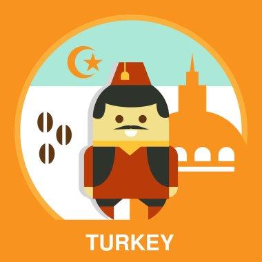 Turkish Man in National Costume
