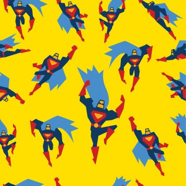 Superman Seamless Pattern