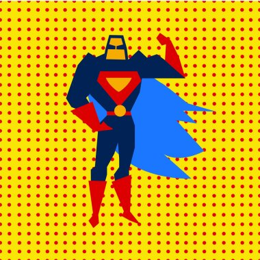 Landed Superman Vector Illustration