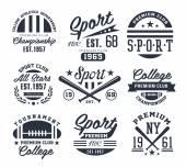 Photo Monochrome Sport Emblems, Labels, Badges, Logos Vector Illustration Set
