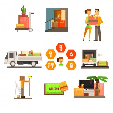 Moving and Repair Web Icon Set