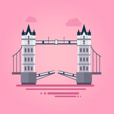 London Tower Bridge in Flat