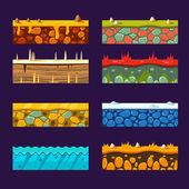Fotografia Impostare delle texture per Platform, di vettore