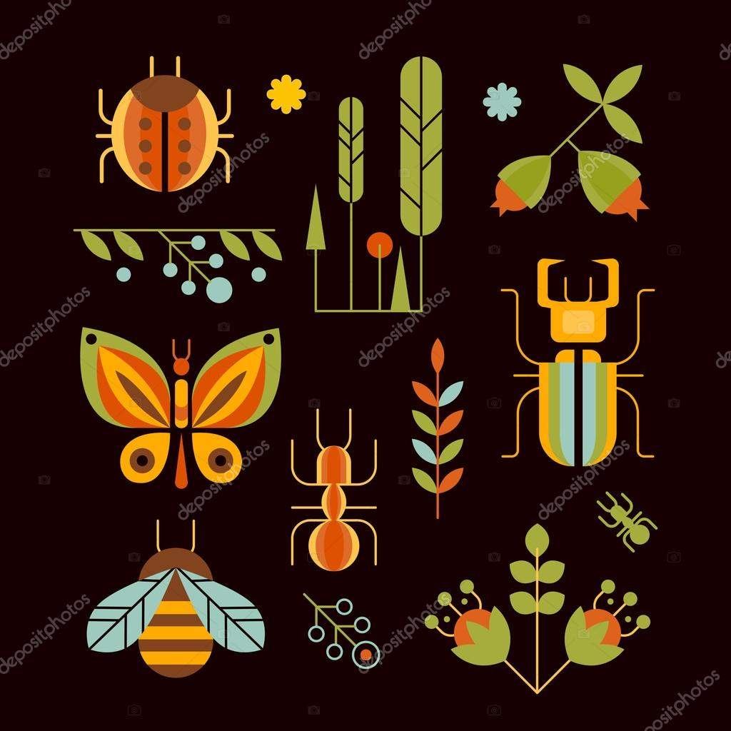 Nature, Insects and Tree Icons