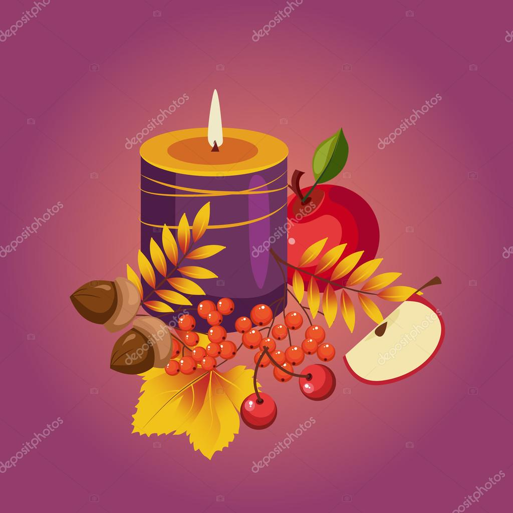 Thanksgiving Autumn Illustration
