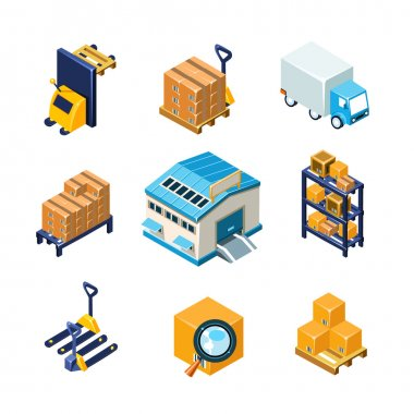 Warehouse and Logistics Equipment Icon