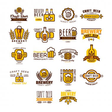 Label of beer badge