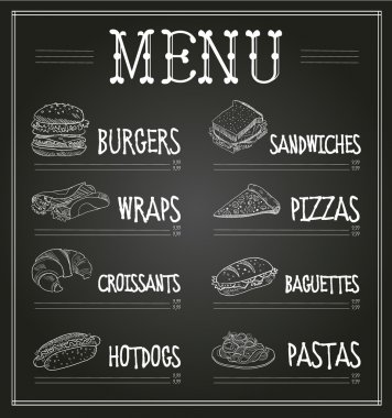 Chalkboard Menu Template.
