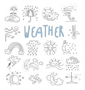 weather events doodle icons