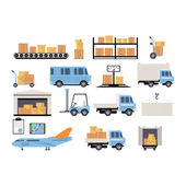 Fotografia Set piatto di logistica di magazzino