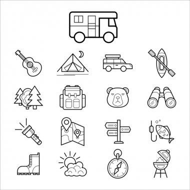 Big set linear icons