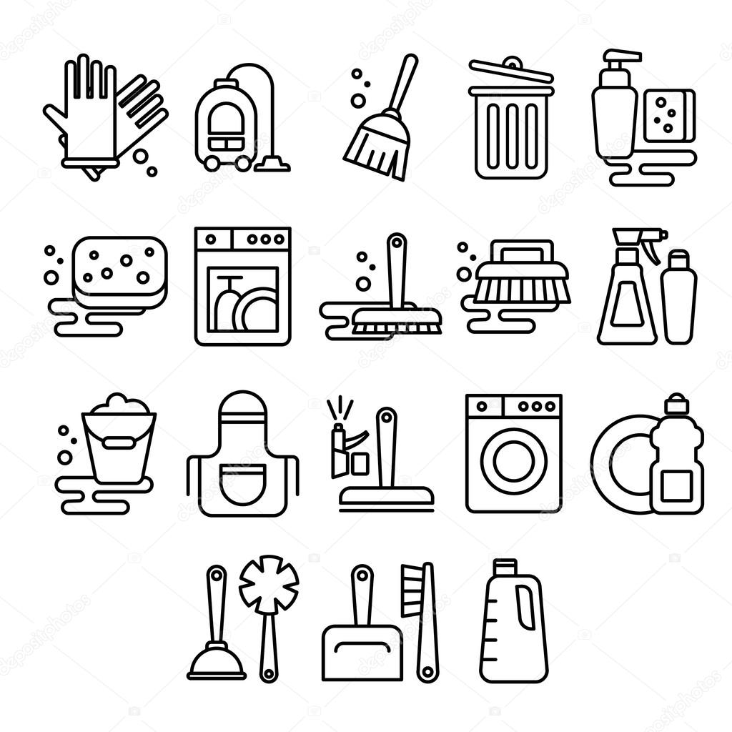 Cleaning, laundry, washing, broom