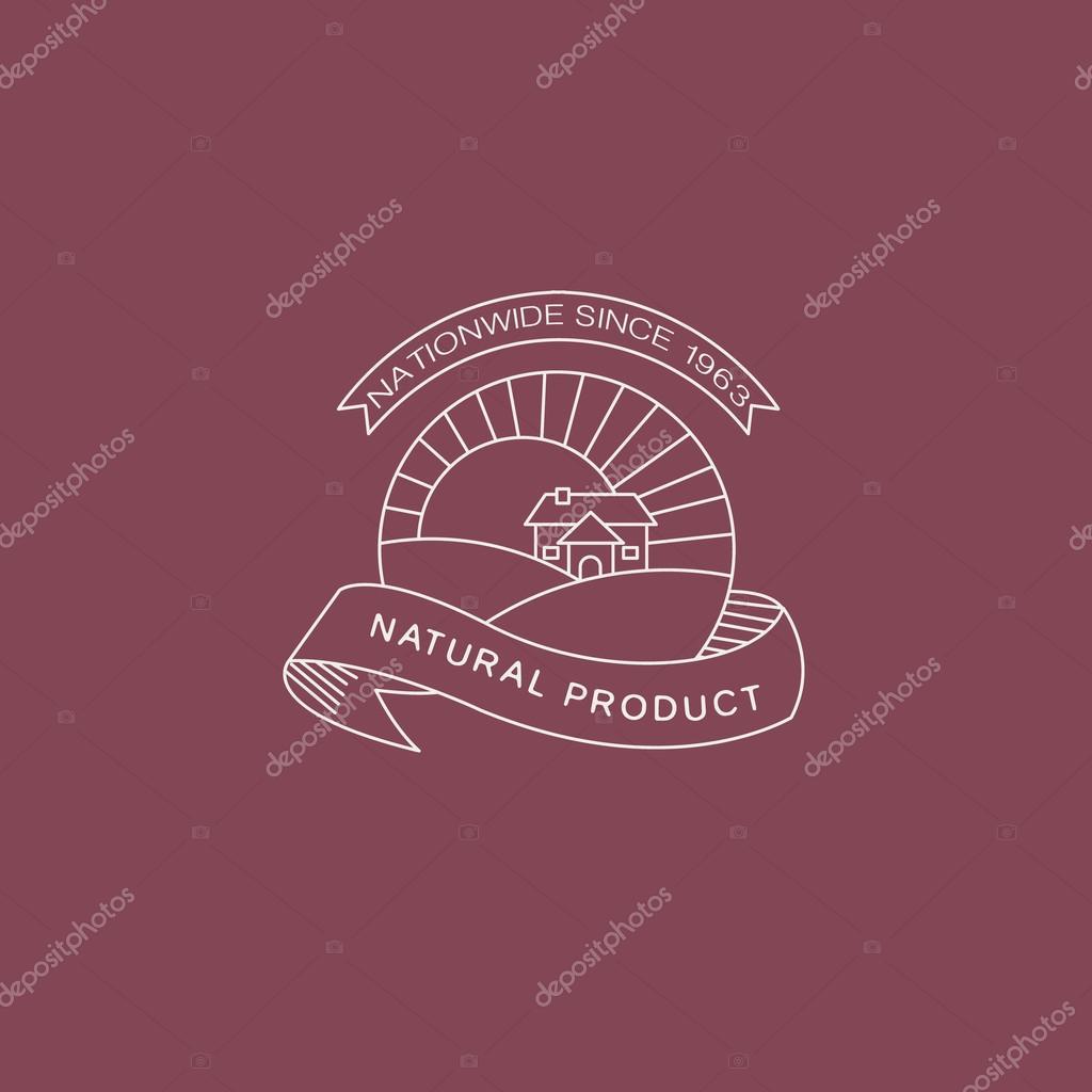 Label in trendy mono line