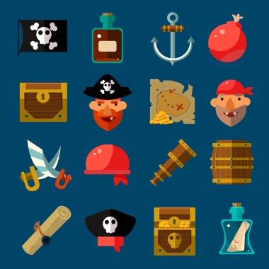 Pirate Game Flat Set