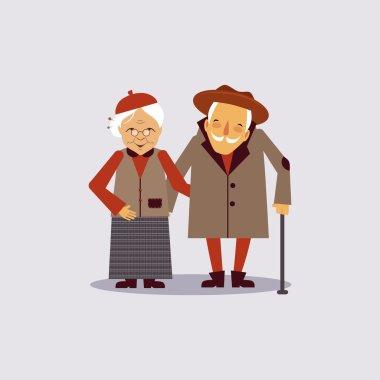 Insurance for Aged Vector Illustartion