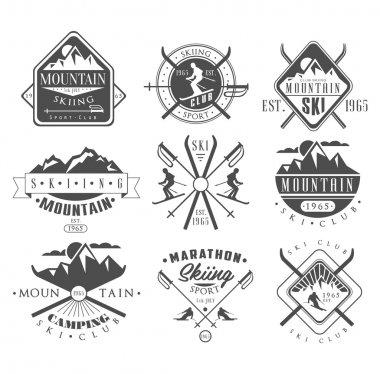 Vintage Skiing Labels  Set
