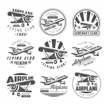 Airplane Club Emblems