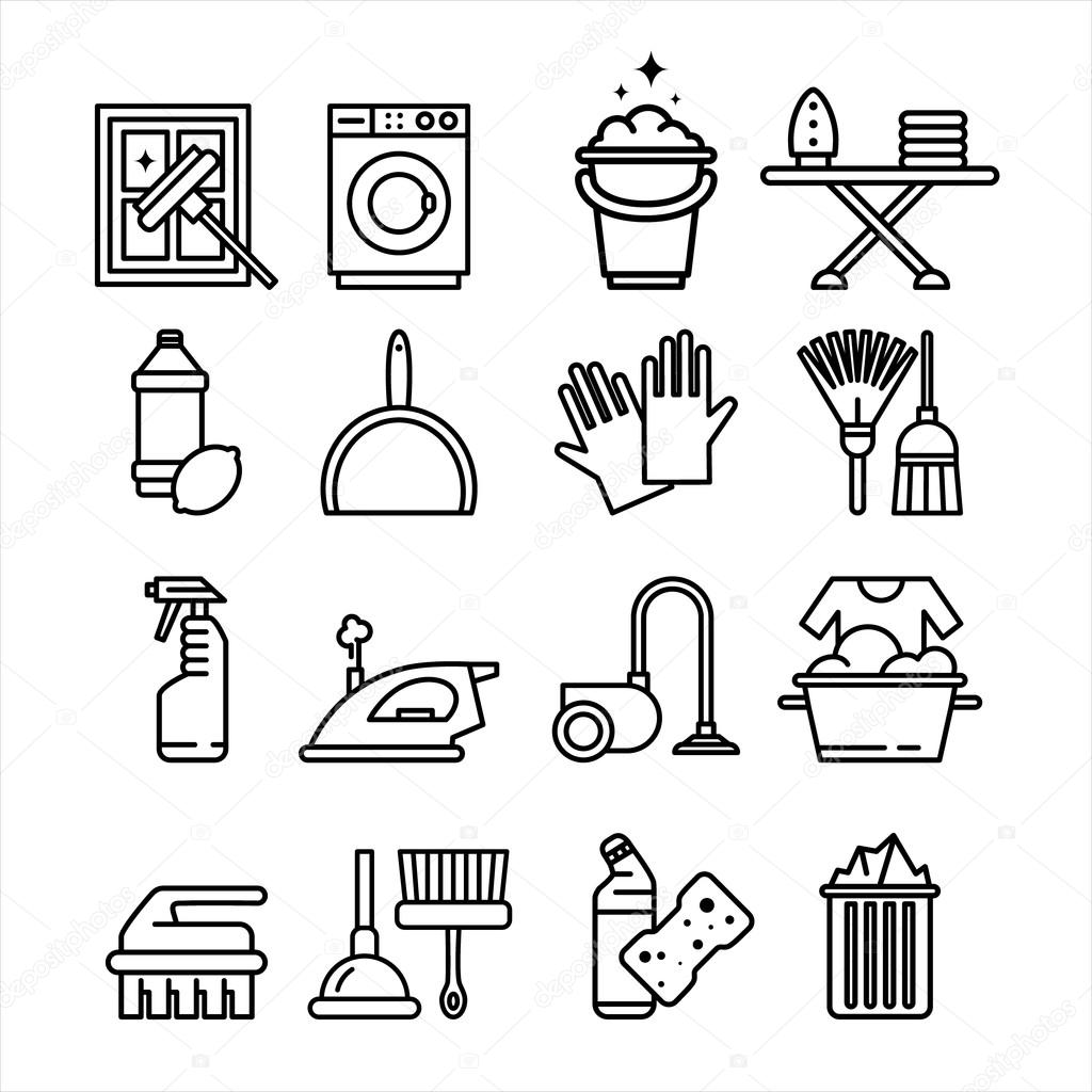 Household Appliances and Tools Icons