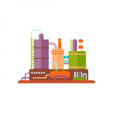 Industrial Factory Buildings Vector Illustration