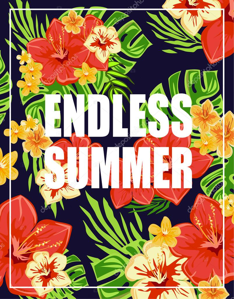 Background with Endless Summer Lettering
