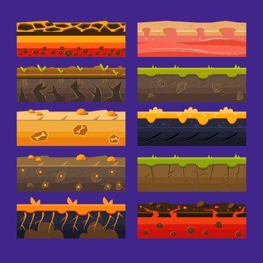 set for UI games Vector Illustrations