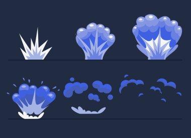 Explosion, Cartoon Explode effect animation.