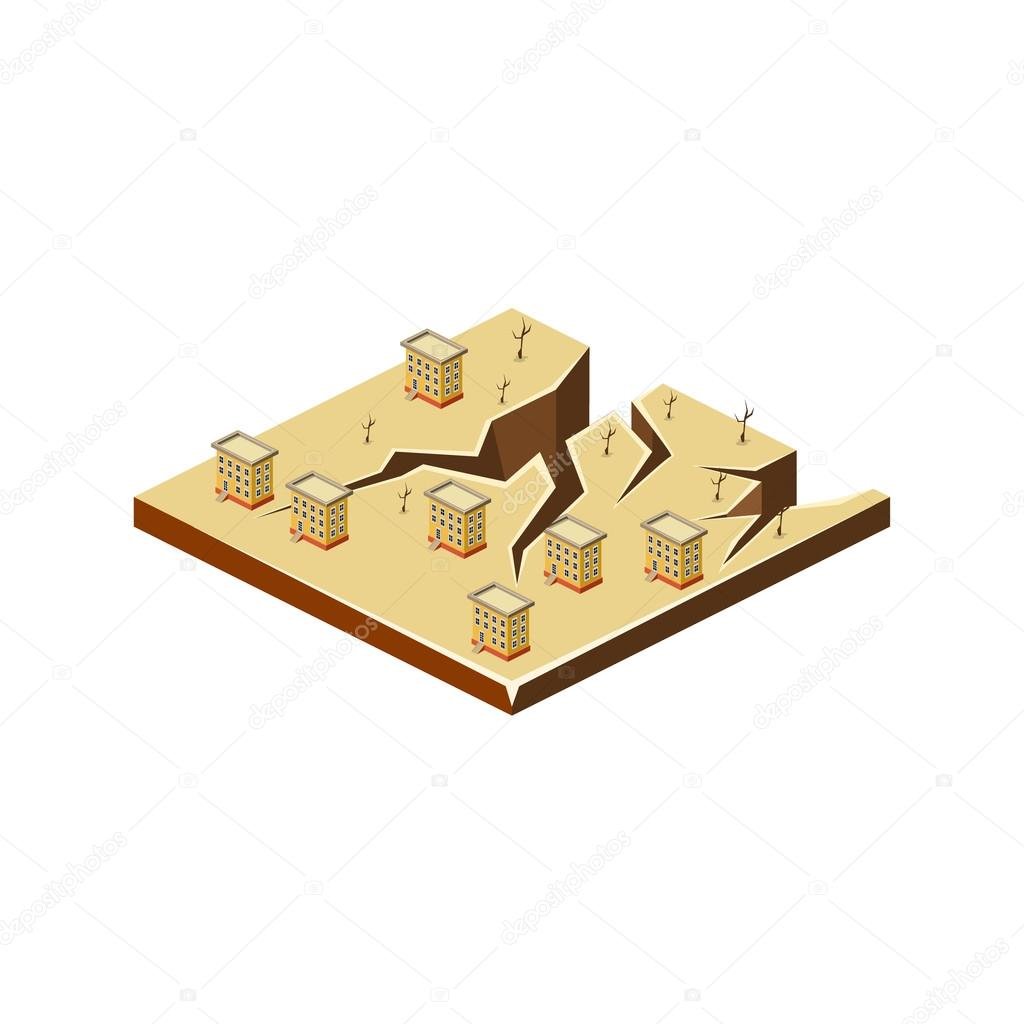 Earthquake. Natural Disaster Icon. Vector Illustration