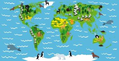 Illustration of children map