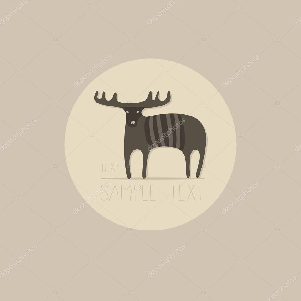 Bier, Elch-Logo. Isolierte Elch als Maskottchen oder Logo Vorlage ...