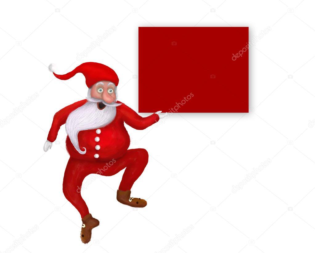 Babbo Natale Originale.Isolato Originale Danza Natale Babbo Natale Sopra Vuoto Saluto