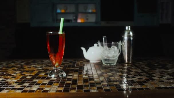 Čaj bubliny nápoj na restauraci