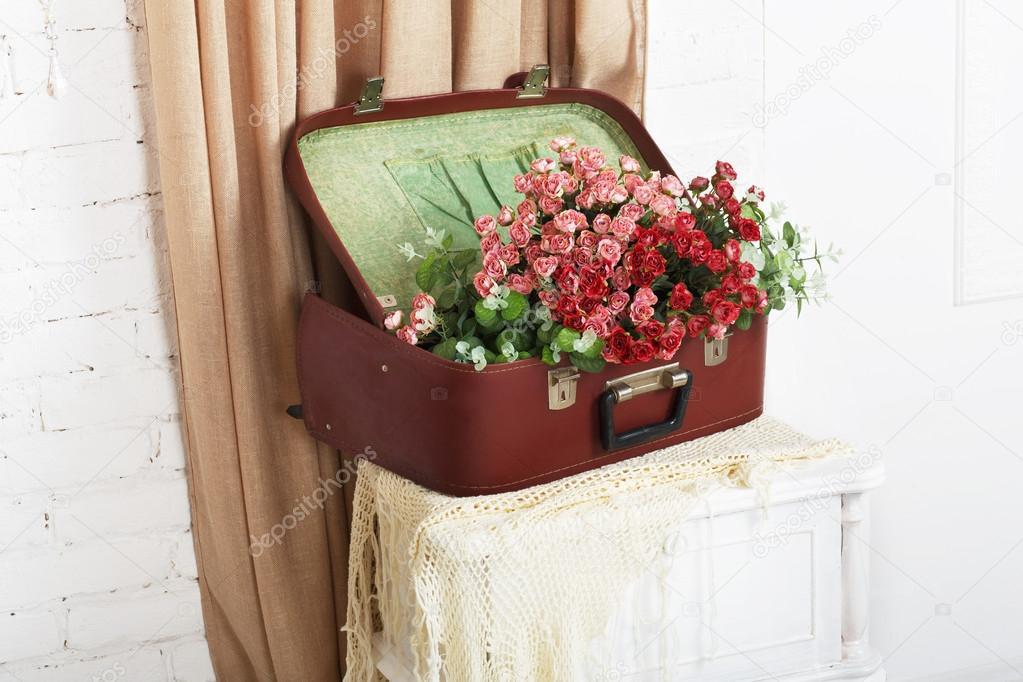 Wedding floral rose decor composition
