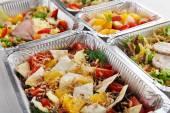Fotografie Zdravé jídlo v krabicích, dieta koncepce.