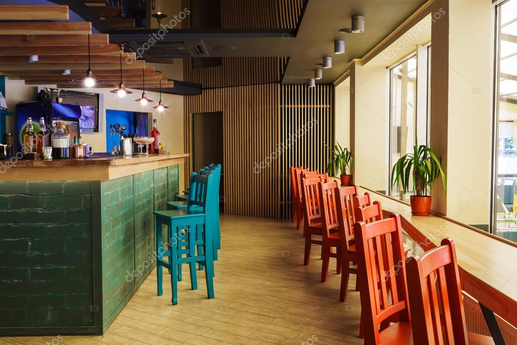 Modern restaurant, bar of café interieur — Stockfoto © Milkos #122863510