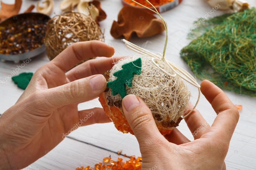 hobby fai da te creativo garland sfere e decorazione di