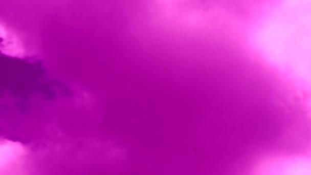 time lapse videó fényes rózsaszín ég felhő felhő, felhők és a szél