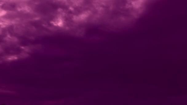 lila ég felhők, esti idő lapse videó