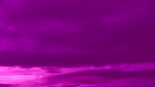 élénk rózsaszín lila felhő táj, ég felhőkkel, videó idő kihagyás
