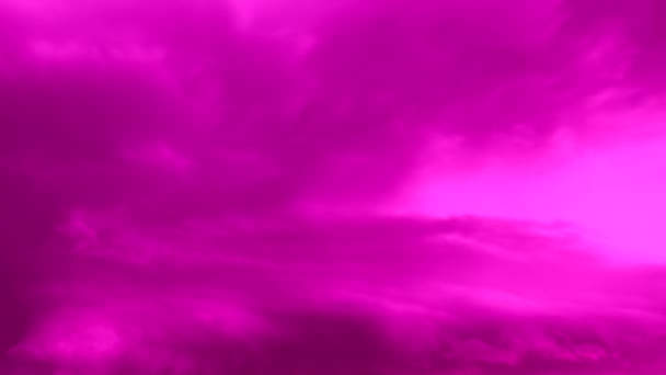 naplemente rózsaszín lila felhő táj, ég felhőkkel, videó idő kiesés