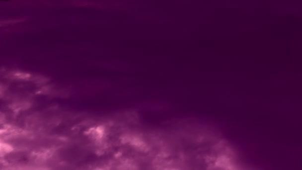 hangulat felhő táj, lila ég felhők, idő lapse videó