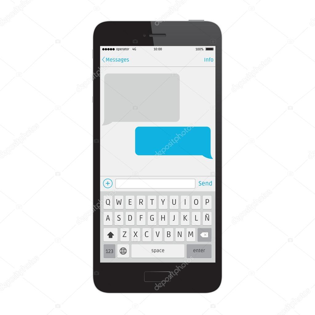 Phone Message Template — Stock Vector © alegretgrafic #62050603