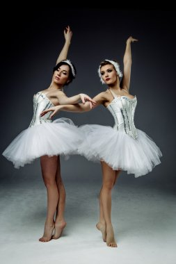 two classic ballet dancers