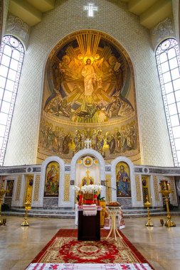 Iconostasis in orthodox Cathedral