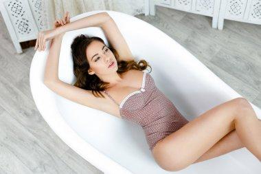 Pretty woman wearing lingerie